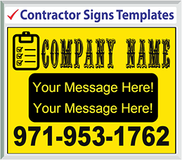 Browse Contractor Signs Templates