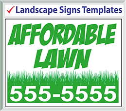 Browse Landscape Signs Templates