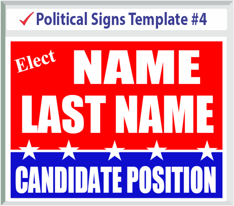 Select Political Signs Template #4