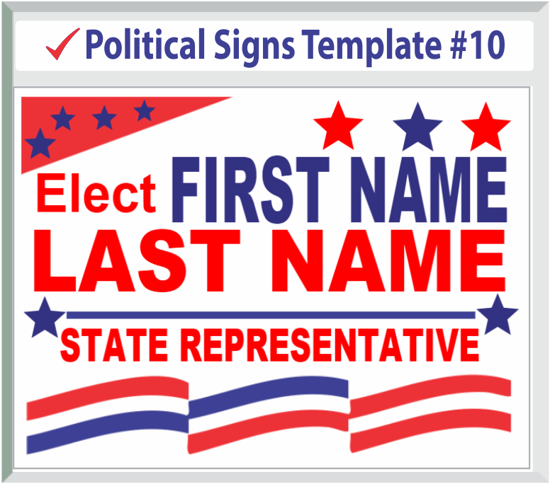 Select Political Sign Template #10