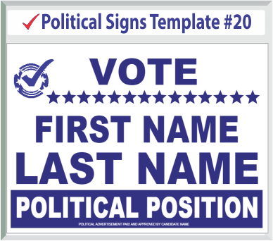Select Political Signs Template #20