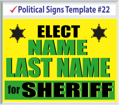 Select Political Signs Template #22