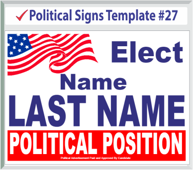 Select Political Signs Template #27