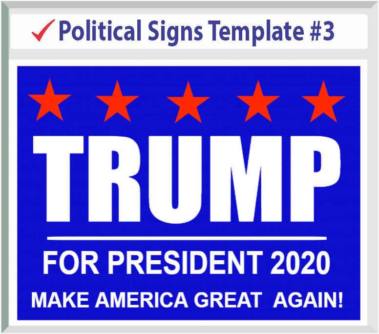 Select Political Signs Template #3