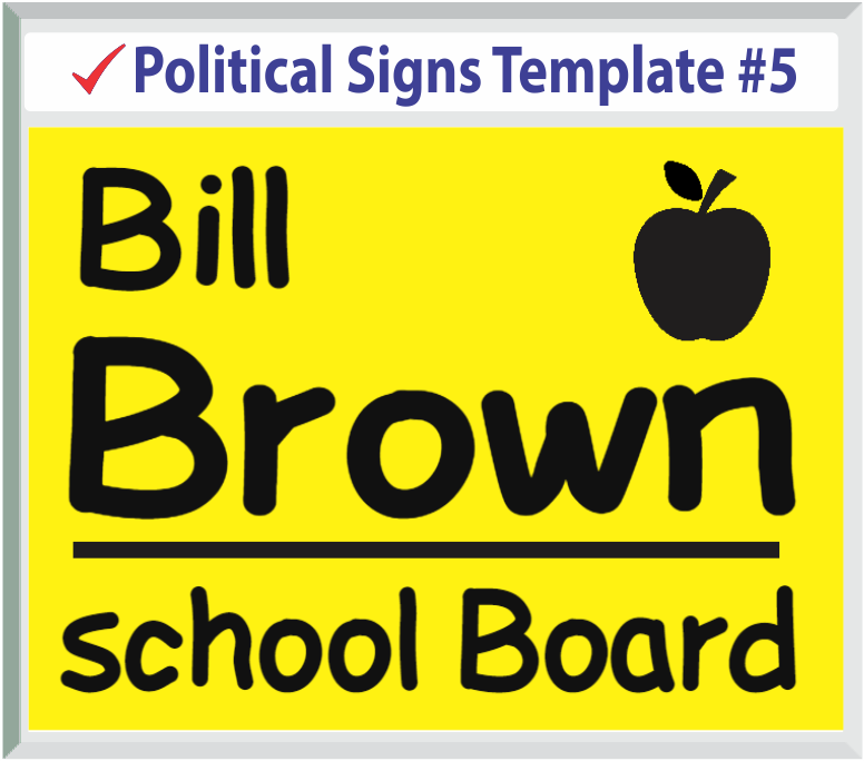 Select Political Signs Template #5